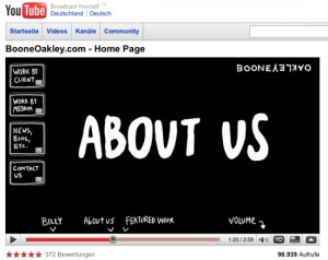 Boone Oakley: Homepage auf Youtube