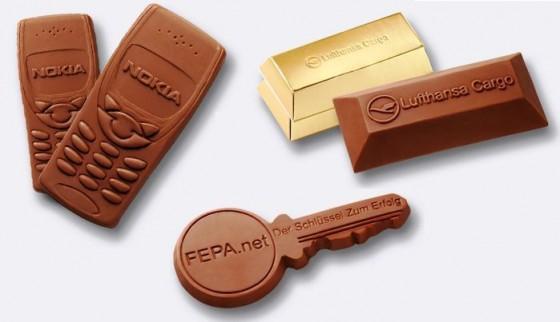 Aktuell sind schon viele Formen von Schokolade möglich, diese werden allerdings noch mit Formen gegossen. Werden 3D Drucker bald diese Aufgabe auch in Kleinstauflagen übernehmen?