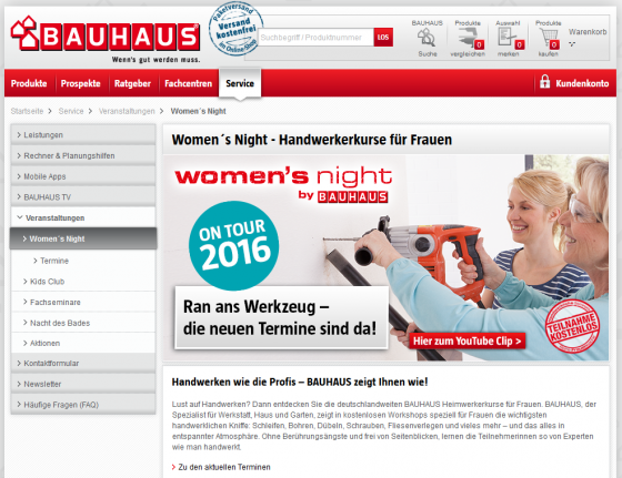 womens night bauhaus