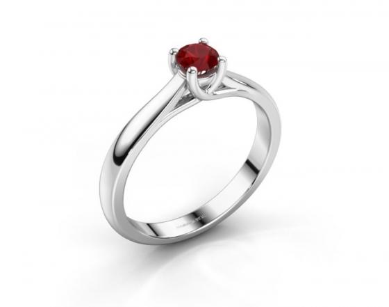 Verlobungsring 925 Silber Rubin